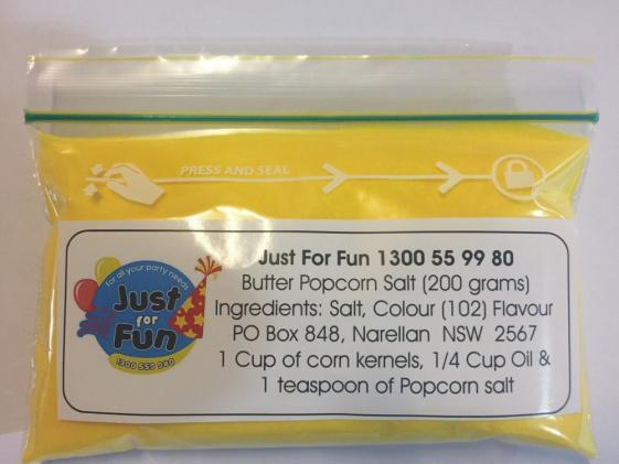 popcorn and butter for popcorn machine